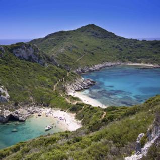A Crescent of Beach in Greece