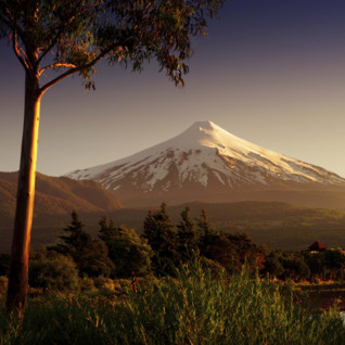 Osorno Volcano at Dusk in the Lake District