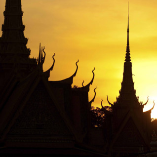 Silhouette of the Royal Palace in Phnom Penh