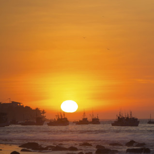 Sunset in Mancora - Peru