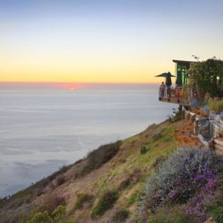 Sunset at Post Ranch Inn, luxury hotel in the Big Sur