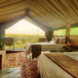 Twin tent interior