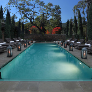 The pool at Hotel Yountville, luxury hotel in Napa & Sonoma Valley