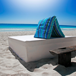 Beachbed at Be Tulum, luxury hotel in Mexico