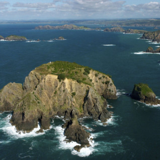 Aerial View Bay of Islands