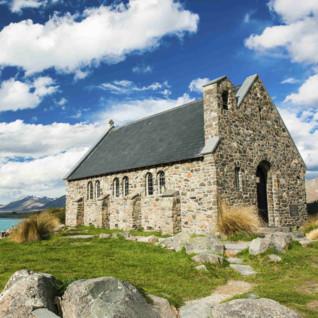 Church of Good Shepherd Lake in Tekapo
