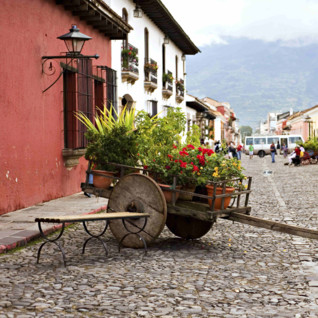 Wheelbarrow down a Cobbled Street