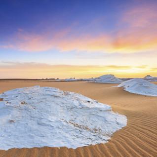 White Desert at Sunset