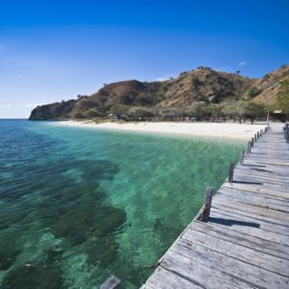 Pier in the Komodo Islands