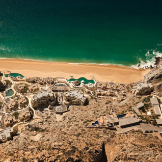 Aerial view of Capella Pedregal, luxury hotel in Mexico