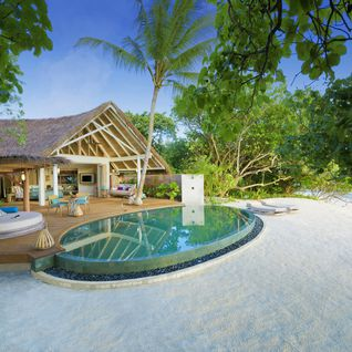 beach pool villa exterior