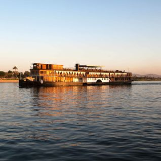 Steam Ship Sudan on the Nile