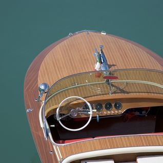 Wooden speedboat