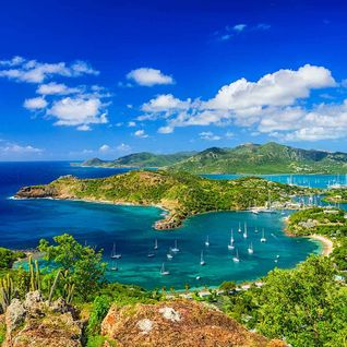 Antigua harbour, Caribbean