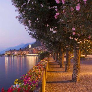 Italy lakes at dusk
