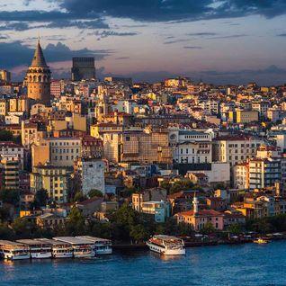 Galata tower at dusk, Istanbul
