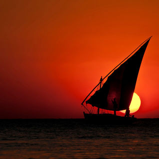 Dhow boat on the Kenyan coast