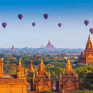 Hot air balloons in Bagan