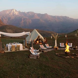 secret glamping camp