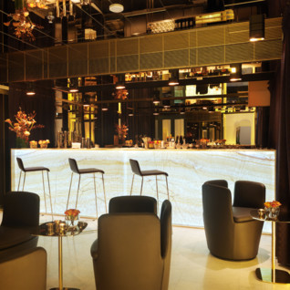 Bar at  Nobis Hotel, luxury hotel in Stockholm, Sweden