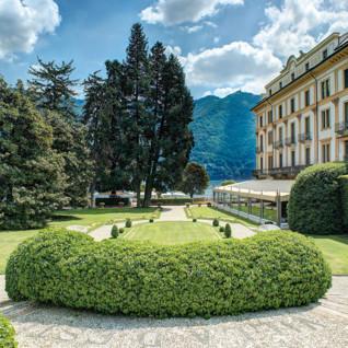 Garden at Villa D'Este, luxury hotel in Italy
