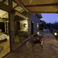 Balcony at Rocktail Beach Camp, luxury hotel in South Africa