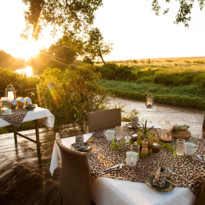 Sala's Camp dining by the river