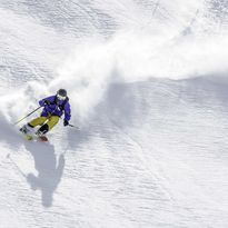Person skiing down a hill