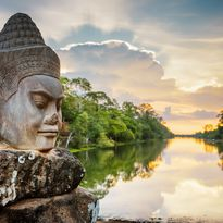 Asura face in Angkor