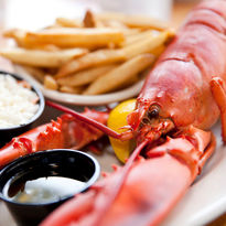 Lobster lunch in New England