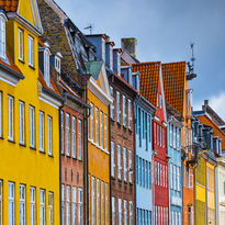 Colourful houses in Copenhagen