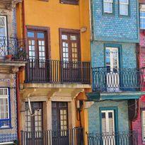 Multicoloured balconies, Porto