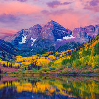 Colorado Mountain at Sunset