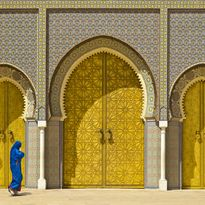 Doors on the Royal palace in Fez