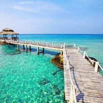 Jetty over turquoise ocean