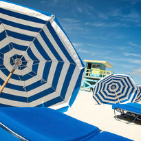 Miami beach umbrellas