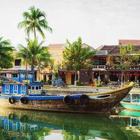 Ship at Thu Bon River in Hoi An