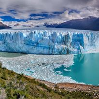 panorama view of perita moreno glacier