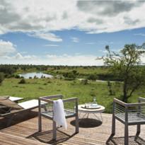 Terrace at Singita Mara River Tented Camp, luxury camp in Tanzania
