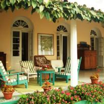 Verandah at Glenburn Tea Estate, luxury hotel in India