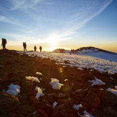 People climbing Kilimanjaro