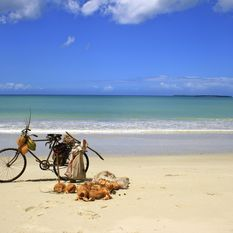 Bike on beach, Zanzibar