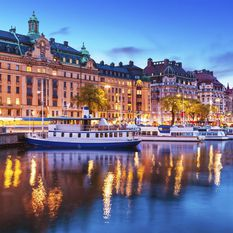 Evening scenery in Stockholm