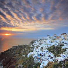 santorini cliff, Greece