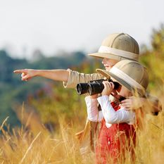 kids on a safari