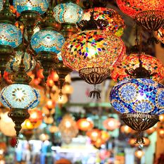 Lanterns at a bazaar