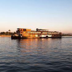 steam ship sudan at sunset