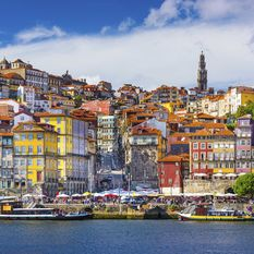 colourful porto houses in portugal