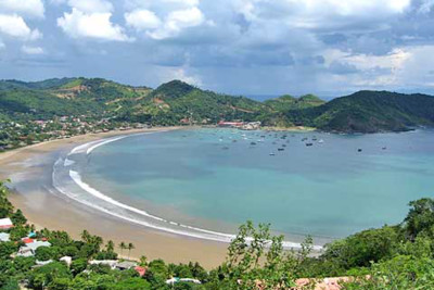 View of the beach at San Juan del Sur