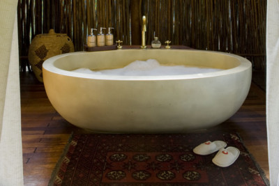 Interior of bathroom at Selinda Camp in Botswana